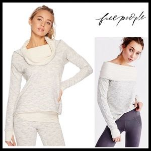 FREE PEOPLE GREY OFF THE SHOULDERS PULLOVER A2C